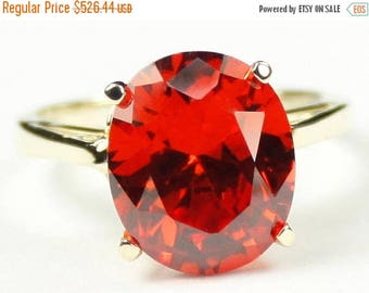 On Sale, 30% Off, Padparadsha CZ, 14Ky Gold Ring, R055