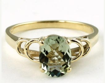 On Sale, 30% Off, Green Amethyst, 14KY Gold Ring, R300
