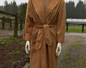 Vintage Scully of LA Suede Belted Doeskin Coat