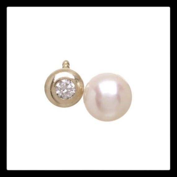 The Nora Diamond and Pearl Stud