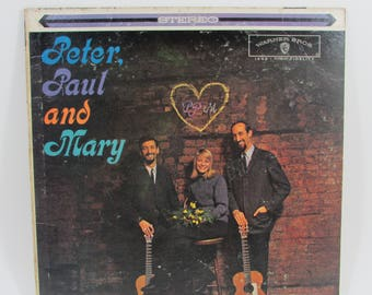 """Peter Paul and Mary """"Peter Paul and Mary"""" Vintage Original Vinyl LP Record Album in Cardboard Sleeve"""