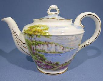 Rare Paragon Cliffs of Dover Tea Pot, 4 Cup Paragon Teapot, Double Warrant by Appointment 1952 ~ 1960