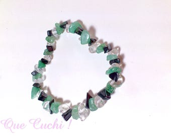 Baroque Bracelet of Hematite, Amazonite and Rock Crystal