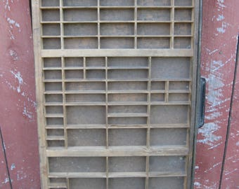 Vintage Printers Tray with Metal edge and Pull