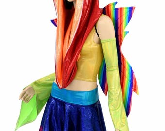 "Weekender III Pixie Edition ""RAINBOW FAIRY"" with Rainbow Stripe Wireless Fairy Wings - 154811"