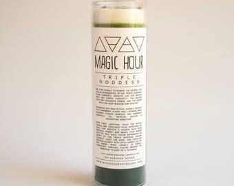 Triple Goddess Candle Handmade Ritual Candle - Large