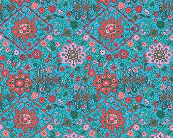 Pre-order: Inner Vision in Turqoise by Amy Butler from the Soul Mate collection for Free Spirit #CPAB002.8Turq by 1/2 yard