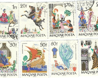 Magyar Posta Hungary Hungarian Postage Stamp Collection - 8 Stamps Fairy Tale Fable Literature B6