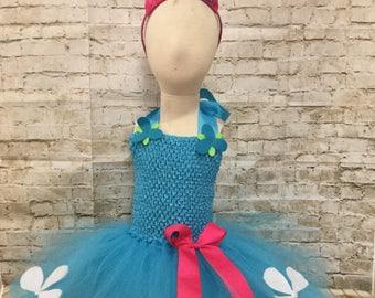 Poppy Troll Halloween Costume, Poppy costume, Trolls Costume, Poppy tutu costume, Halloween tutu costume, Halloween costume for girls