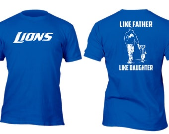 Limited Edition Rare Royal Lions Like Father Like Daughter Football Shirt All sizes up to Plus 5x