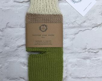 Yoga socks - dance socks -  leg warmers - boot socks - green Accessories - Women - gifts for her - knit yoga socks - winter dance wear -