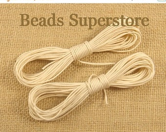 SALE Waxed Cotton Cord - 2.5 meters (about 2.73 Yards)