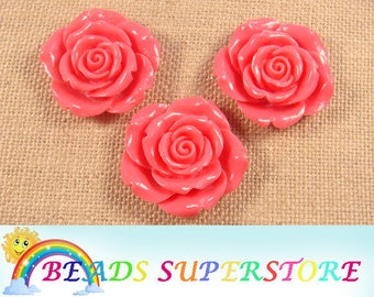 42 mm Rose Flower Resin Bead - Gumball Bead - Acrylic Chunky Bead  (42M06)