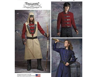8235, Simplilciy, Men, Assassin's Creed, Archer, Military, Civil War, Vintage Style, Reenactment, Frock Coat, Civil War Soldier, Cosplay