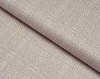 Jane Makower 'Discounted' Inprint Beige Check Toner Patchwork Quilting Dressmaking Fabric