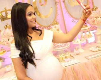 Maternity  dress, Baby shower dress, maternity dress for photoshoot,romantic maternity dress,  infinity dress,long infinity maternity dress
