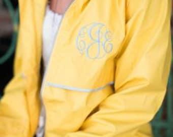 SALE!!! Monogrammed Rain Jacket | Preppy Personalized Charles River New Englander Rain Coat