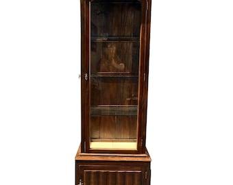 unusual Antique Tall and Narrow Vitrine Showcase