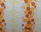 70s deco fabric by the meter,translucent,yellow,orange,psychedelic,curtains,drapes,windo decor,hippie,sewing for home
