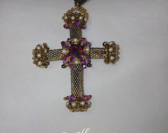 Intricate woven cross