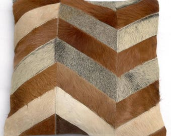 Natural Cowhide Luxurious Patchwork Hairon Cushion/pillow Cover (15''x 15'')a226