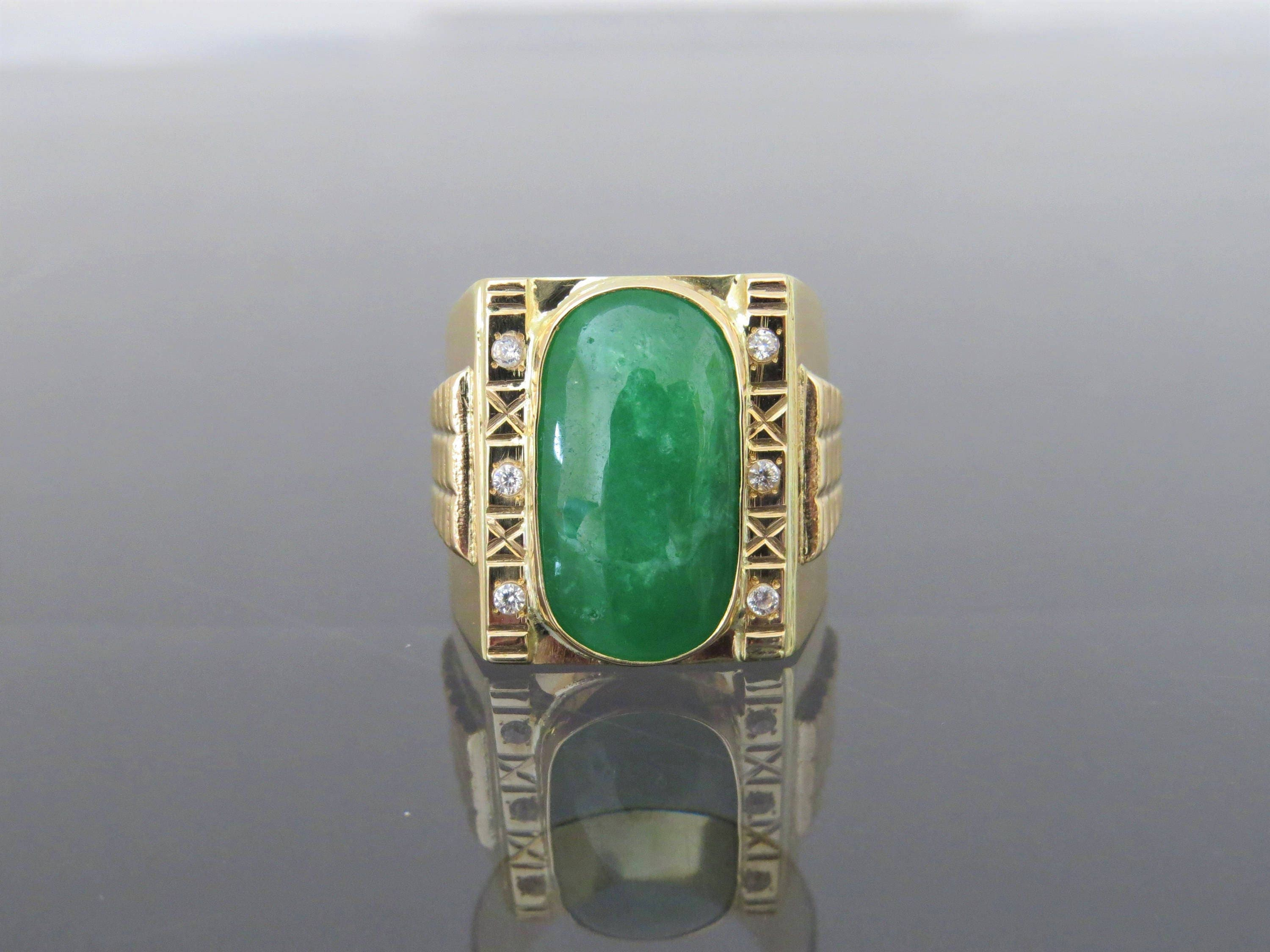emerald k colombian cocktail men s mens tcw cut rings enamel ring for
