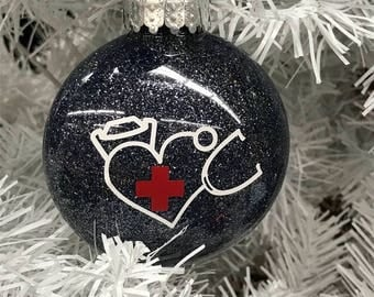 Nurse Ornament. Holiday Ornament, Nurse, great gift for a nurse, gifts under 10 dollars, can personalize free of charge. Personalized nurse