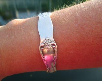 Vintage Ornate Silverplated Cuff Bracelet