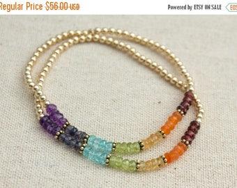 Close Out Sale 14k Gold Filled Chakra bracelet