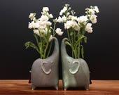 elephant vase / bud vase / antique jade / price for one elephant