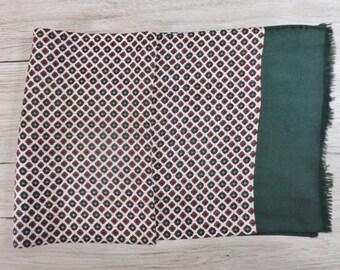 "Vintage Hipster Mens scarf 118cm x 27cm / 46.4"" x 10.6"""
