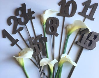 Marking tables numbers for ceremonies