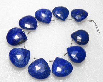 Lapis Lazuli - Faceted - 5 Matching Pairs - Heart Shape - size 18x18 mm