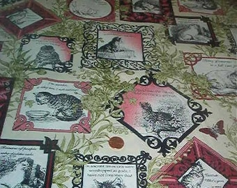 In the Begging cotton fabric-CAT-CENTRIC-cats, kittens, quilt