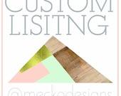 Custom Order for Krista Miller