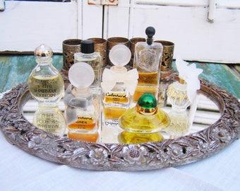 7 Vintage Mini Perfumes Nina Ricci L'air Du Temps Chanel Egoiste Shalimar Guerlain Nocturnes de Caron Volupte by Oscar de la Renta Cabochard