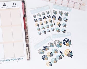 Floral Ampersand Planner Stickers, Icon Planner Sticker, Kiss Cut Sticker, Decorative Planner Stickers, Custom Stickers, Personal Planner