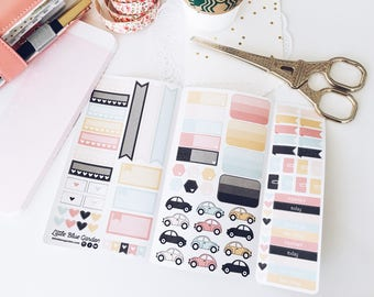 Personal Size Sticker Book Insert for Traveler's Notebook, Planner Stickerbook, Custom Stickers for Planner, TN Sticker Insert, Planning kit