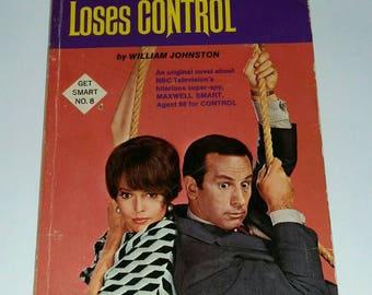 Vintage GET SMART Book Max Smart Loses Control Agent 99 Maxwell Smart Paperback Spy Comedy No 8 1960s TV Humor Pop Culture William Johnston