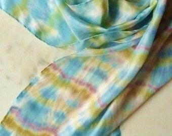 REDUCED Silk Scarf Pastel Silk Scarf