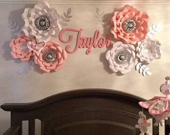 Large Wooden Name Sign - Wall Hanging - Unpainted Wood Name - Calligraphy Name - Wall Decor - Wall Letters - Backdrop Sign - Birthday Decor