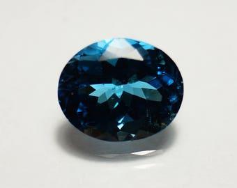 12x10x6.7 mm Oval Cut London Blue Topaz Faceted Stones / Topaz Gemstone