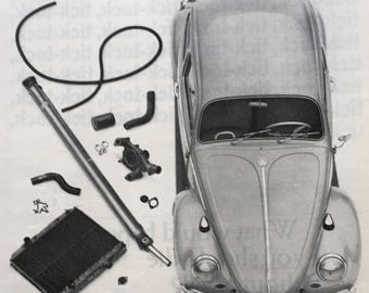 Mid Century Volkswagen ad, from a 1965 Life Magazine.