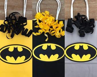 Batman Superhero Birthday Favor Candy Goody Bags