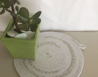 Rope Wall Hanging | Trivet | Rope Trivet | Grey Wall Hanging | Pot Holder