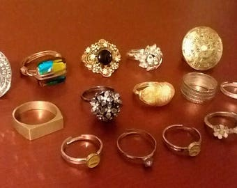Vintage to new ring lot #14 various sizes