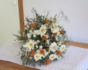 Dried flower bouquet, wedding bouquet, wedding centerpiece, cottage decoration, summer bouquet,