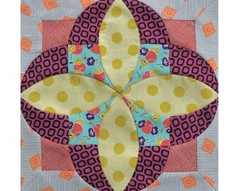 """Free Shipping! New JEN KINGWELL Tilly TEMPTER Acrylic Templates for 10"""" Finished Block by Jen Kingwell Designs"""