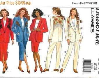 25% OFF Butterick 6915  Misses Jacket, Skirt and Pants     Size 12,14,16   Uncut