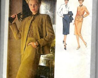 Simplicity 9185         Misses Skirt, Blouse, Unlined Cardigan Jacket       Size 16     Uncut